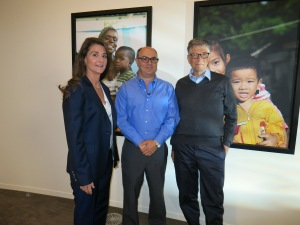 Bill & melinda Gates with Adam Shaw