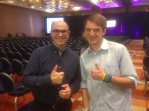 Jack Andraka and Me Giving the Thumbs Sign - but I can't remember to what